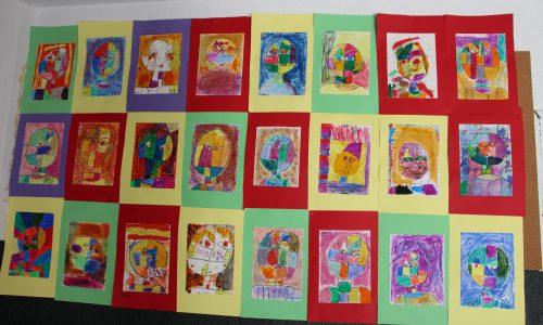 2º E.P. multitécnica inspirada en Paul Klee
